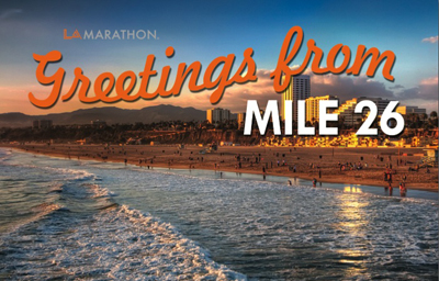 LA Marathon Beach Finish